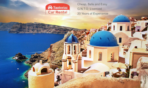 What to look out for when you rent a car in Santorini